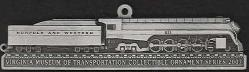custom pewter ornament - Virginia Museum of Transportation - Norfolk and Western #611 - front view