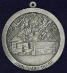 custom pewter ornament - High Point Museum - Haley House - High Point, NC - front view